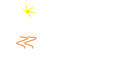 dads house logo with tag white